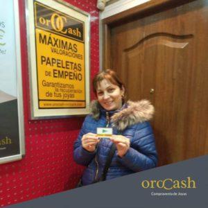 Ana María Maxin, ganadora de Orocash Zaragoza