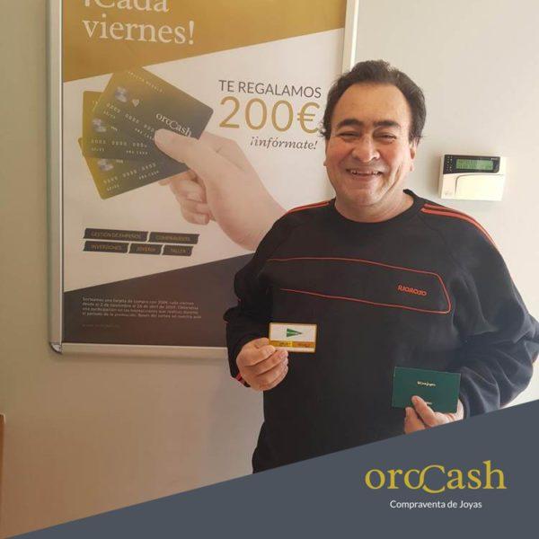 Bernardo Muñoz Parra, ganador de una tarjeta de 200€